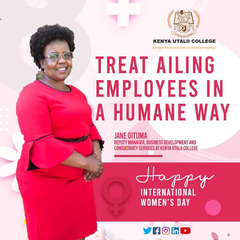 Jane Gituma - Kenya Utalii College, Asst B/Development Manager