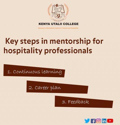 Key Steps in mentorship for hospitality professionals - Kenya Utalii College