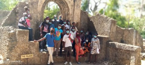Kenya Utalii College students during a field trip to Mombasa