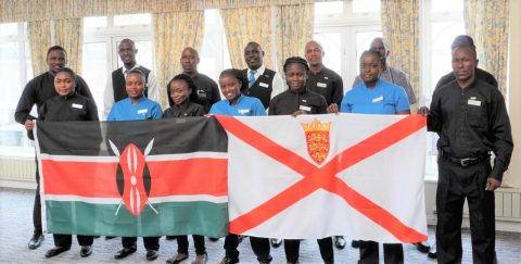 Kenya Utalii College alumni enroute to Jersey0 Island.
