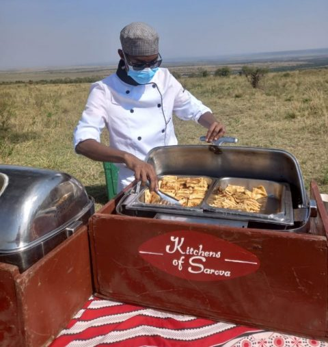 Kenya Utalii College student undergoing his internship period at Sarova Mara